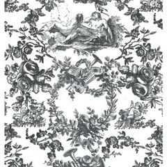 Black Toile on White Tissue Paper - Ten Sheets