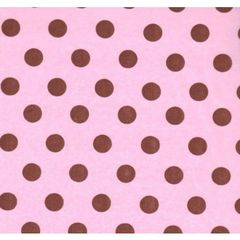 Brown Dots on Pink Tissue Paper - Ten Sheets