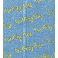 Birthday Boy Denim Tissue Paper - 10 Sheets