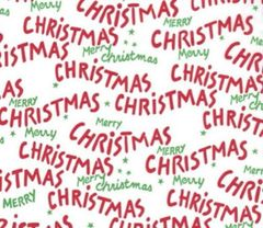Merry Christmas Script Tissue Paper - 120 Sheets