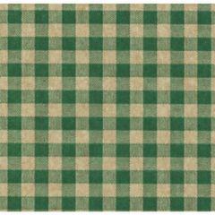 Green Gingham on Kraft Tissue Paper - Ten Sheets