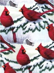 Red Cardinals Heavy Christmas Gift Wrapping - 30 in x 6 Ft Sheet