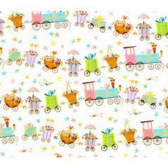 Choo Choo Train Baby Gift Wrapping - 100 Ft Roll