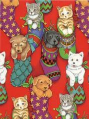 Pet Stockings Heavy Christmas Gift Wrapping Paper - 30 Ft Roll