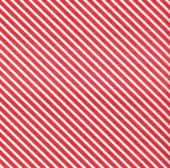Red Candy Cane Stripe Christmas Tissue Paper - 30 Sheets