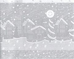 Village Houses Foil Christmas Gift Wrapping Paper - 30 Ft Roll