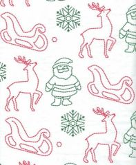 Christmas Stitch Tissue Paper - 120 Sheets.