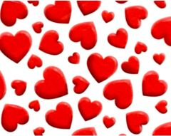 Big Valentine Hearts Tissue Paper - Ten Sheets