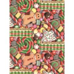 Christmas Treats Heavy Gift Wrapping Paper - 6 Ft Sheet