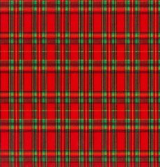 Red Tartan Plaid Gift Wrap - 30 Ft Roll