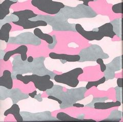 Pink Camouflage Heavy Embossed Gift Wrap -30 Ft Roll