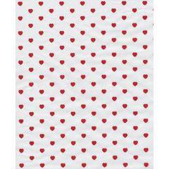 Little Red Valentine Hearts Tissue Paper - Ten Sheets