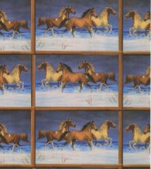 Snow Horses Gift Wrapping Paper - Six Foot Sheet