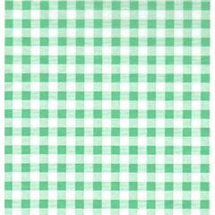Pale Green Gingham Tissue Paper - 120 sheets