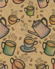 Expresso Coffee Bean Gift Wrapping - 6 Ft Sheet