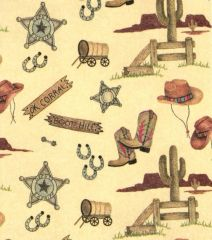 OK Corral Embossed Gift Wrapping Paper - 6 Ft Sheet
