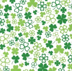 Irish Shamrock Clover Heavy Embossed Extra Wide Gift Wrapping - 100 Ft Roll