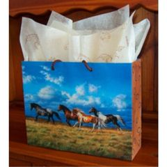 Running Free Horse Laminated Eurotote Gift Bag - 100 Large