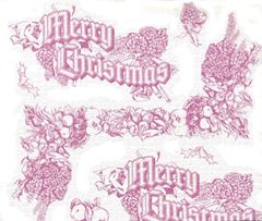 Christmas Toile Tissue Paper - 30 Sheets