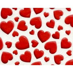 Big Valentine Hearts Tissue Paper - 120 Sheets