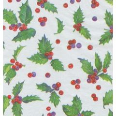 Holly Toss Christmas Tissue Paper - 20 Sheets