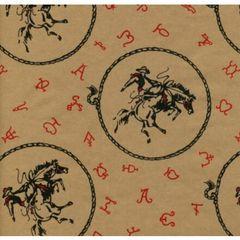 Bucking Horse Gift Wrapping - Six Foot Sheet