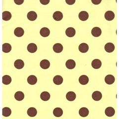 Brown Dots on Yellow Tissue Paper - Ten Sheets