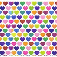 Painted Hearts Tissue Paper - 10 Sheets