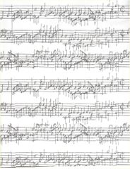 Sheet Music on White Gift Wrapping Paper - 6 Ft Sheet