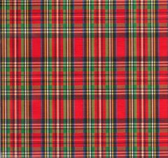 Royal Stewart Tartan Plaid Heavy Embossed Gift Wrapping - 30 In x 25 Ft Roll
