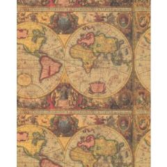 Antique Maps Heavy Embossed Extra Wide Gift Wrapping - 6 Ft Sheet