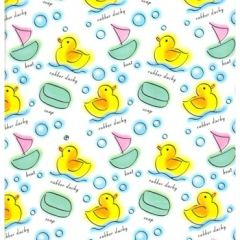 Rubber Ducky Gift Wrapping - 6 Ft Sheet