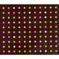 Chocolate Dots Heavy Embossed Gift Wrapping - 30 Ft Roll