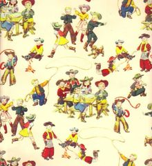 Little Buckaroos Heavy Western Gift Wrapping - 30 Ft Roll