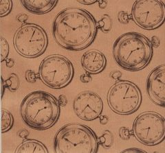 Pocket Watches Heavy Gift Wrapping Paper - 6 Ft Sheet