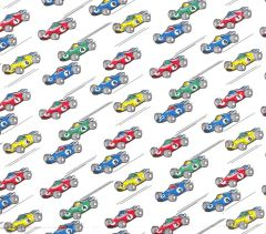 Race Cars Tissue Paper - Ten Sheets