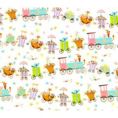 Choo Choo Train Baby Gift Wrapping Paper - 30 Ft Roll