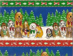 Christmas Dogs & Cats Gift Wrapping Paper - 6 Ft folded sheet