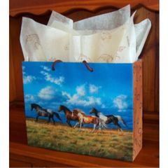 Running Free Horse Eurotote Gift Bag - Medium