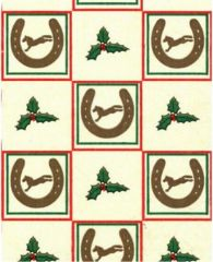 Christmas Horse Shoes Tissue Paper - 10 Sheets