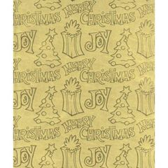 Joy Gold Foil Christmas Gift Wrapping - 30 Ft Roll