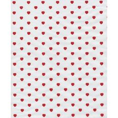 Little Red Valentine Hearts on White Tissue - 120 Sheets