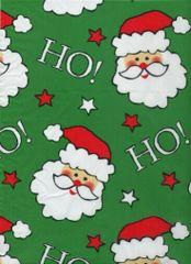Santa Faces Christmas Gift Tissue Paper - 10 Sheets