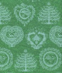 Lapland Green Christmas Tissue Paper - 10 Sheets