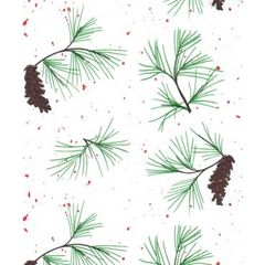 Red Pine Christmas Tissue Paper - 30 Sheets