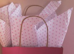 Little Pink Valentine Hearts Tissue Paper - 120 Sheets