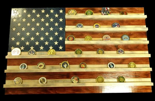 Aa American Flag Challenge Coin Holder Mdwoodcrafts