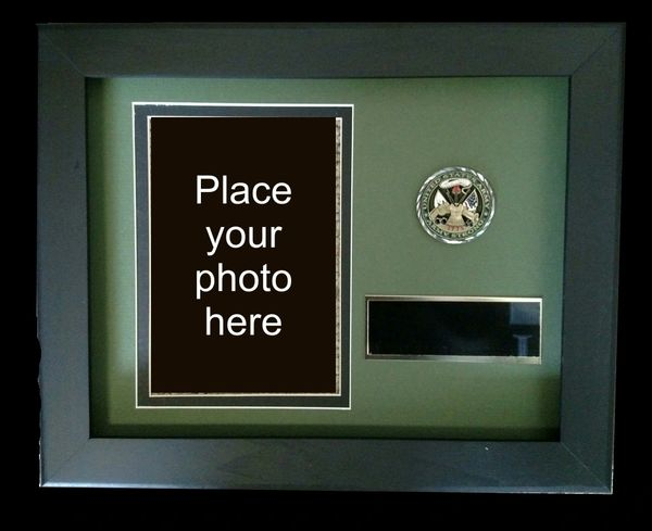 Custom Frame With Challenge Coin And Photo Mdwoodcrafts