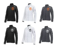 Ladies Full Zip Contrast Stitching Weather Resistant Jacket