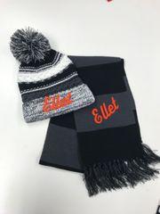 Ellet SALE - Pom Pom Hat and Scarf Combo Sale!